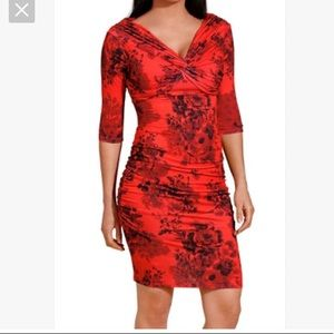 Fabulous poppy ruched stretch dress
